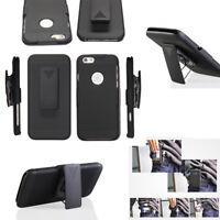 For Apple iPhone SE 5 5S Protector Holster Hybrid Kickstand Case Belt Clip Cover