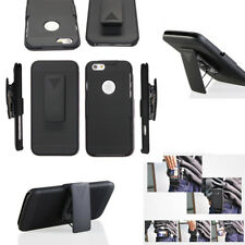 For Apple iPhone SE 5 5S Protector Holster Hybrid Kickstand Case Belt Clip Cover