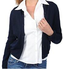 Balldiri 100% Cashmere Damen Strickjacke Rundhals 2-fädig nachtblau S