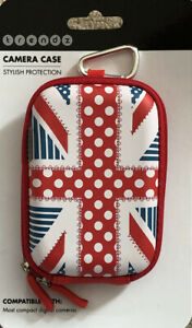 UNION JACK Compact Digital Camera Mobile Phone Protective Case Universal fit red
