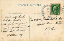 SERGEANTSVILLE, N.J. 4-BAR LARGE OVAL BLACK CANCEL. CHRISTMAS GREETING PC.