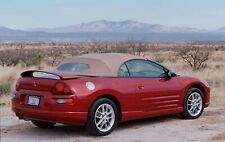 2000-2005 Eclipse Stayfast Convertible Top with Defrost Window - Tan - New!