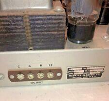 Mono PAIR Webster Electric 6L6 Allen Organ Amplifiers monoblock tube hi-fi  amp