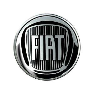 Adesivo Fiat 3D Ufficiale Logo Black 75 mm
