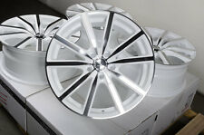 "18"" White Effect Wheels 5x100 Volkswagen Beetle GTI Jetta Passat Matrix Celica"