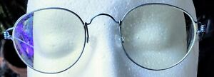 Genuine LINDBERG Air Titanium Matte Blue Minimal Rim Round Frame Glasses Denmark