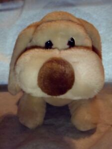 "VTG Dimples Plush Puppy Dog Soft Lovey Russ Berrie 11"" Bashar Basset Shar Pei"