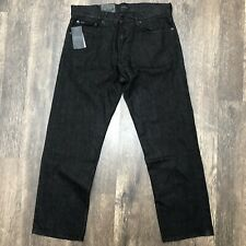 Polo Ralph Lauren The Thompson Relaxed Fit Black Stretch Jeans 32 x 30  NWT NEW