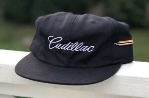 Cadillac Logo Emblem Escalade ESV EXT CTS STS SRX XLR Black Baseball Cap Hat