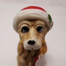 Vintage 1979 Adorabelles Bell Bisque Porcelain Dog by Jasco Taiwan Collectible