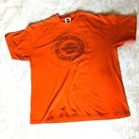 Harley-Davidson Men's Size XL T-Shirt Life Begins When You Get One Orange 2008