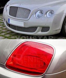 EXPRESS COMBO CHROME Set Front & Rear Light Trims Bentley Continental GT SPEED