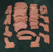 Fisher Price GeoTrax Tan Track Lot 88 Pieces Straight Curved Switch