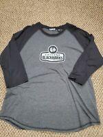 Chicago Blackhawks NHL Hockey Gray 3/4 Sleeve Shirt XXL Excellent Condition