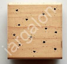Rubber Stamp Heart Dust Dots L-162 Used