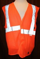 Walls Work Wear 3M Reflective Class 2 Level Vest Orange Hunting Safety XL