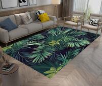 Tropical Palm Leaf Home Non-slip Area Rug Floor Mat Living Room Bedroom Carpet