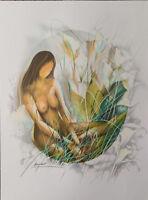 Poulet Raymond: Vahinee Aux Arums - Litografía Firmada Y Numerada 250ex