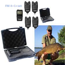 Free-ship Carp Fishing Wireless 4+1 Bite Alarm Set+Receiver with Display Screen