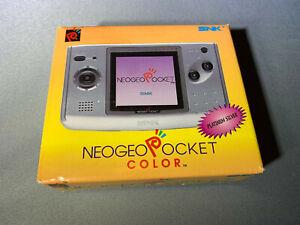 Neo Geo Pocket Color Platinum Silver Handheld Open Box New