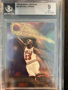 1997 Metal Universe MICHAEL JORDAN BGS 9 NBA Basketball Card Graded #23 Mint +