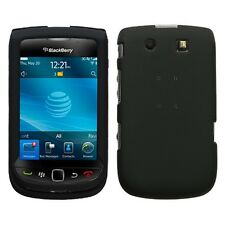 Rubber Black Hard Case Cover for BlackBerry Torch 9800