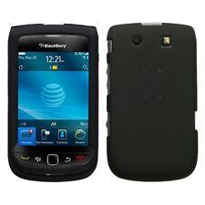 Rubber Black Hard Case Cover for BlackBerry Torch 9800
