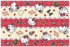 Hello Kitty Plaid Leisure Sheet Picnic Mat Beach Mat Table Linen VS1