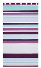 Purple Textured Stripe Eyelet Curtains 72s