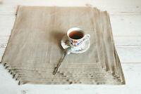 """Natural Linen napkins bulk, Cloth napkins set 16""""x16"""", 100% Linen napkins"""
