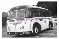 ab0054 - Black & White Coach Bus - PAD 187 to Ilfracombe - photograph 6x4