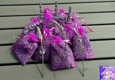 Lavender Organza Bags 9 x 12cm  Highly fragrant French Pure organic lavender. 20