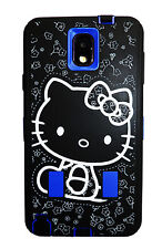 Hello Kitty 2 layer Built in Screen Protector Case For Samsung Galaxy Note3 Blue