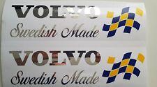 VOLVO SWEDISH MADE SWEDISH FLAG CHROME/VINYL HIGH QUALITY STICKER FH12 FH16 FMX