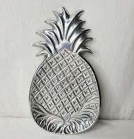 Pineapple Pewter Platter Tray Snacks Appetizer Barware Decorative Tropical Beach