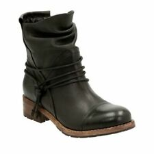 Clarks VOLARA DINA Black Leathe Women's Bootsr UK 3D