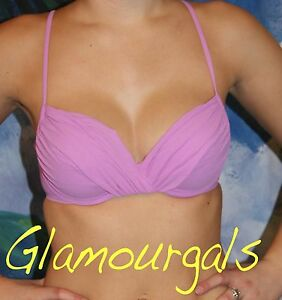 New Victorias Secret Beach Sexy Violet Underwire Push Up Bikini TOP Sz 36B