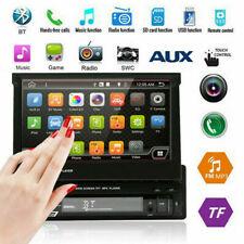 "Single 1 Din 7"" HD Bluetooth Car Stereo MP5 Player Touch USB TF AUX FM/AM Radio"
