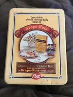 """Vintage Grape-Nuts Metal Tin Post Cereal """"There's A Reason"""""""