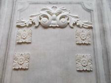Georgian Double Scroll & Four Corner Moldings White Decorative Set Moldings
