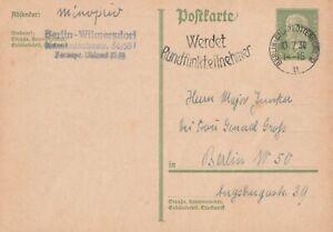 Postkarte gelaufen in Berlin aus dem Jahr 1930 lesenswerter Text