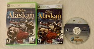 CABELAS ALASKAN ADVENTURE XBOX 360 VIDEO GAME HUNTING ACTIVISION WITH CASE