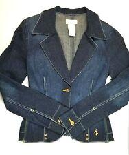 BABY PHAT Dark Denim Jacket Blazer Size SMALL See ALL Details in Photos