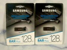 2 X Samsung BAR Plus 128GB - 300MB/s USB 3.1 Flash Drive Titan Gray
