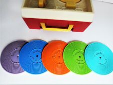 FISHER PRICE # 995 Record Music Player Tourne- disque + 5 disques- ' 71 Vintage
