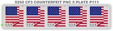 NEW 5260 (CF3) PNC 5 P111 Postal Counterfeit US Forever Flag 2018 MNH - Buy Now