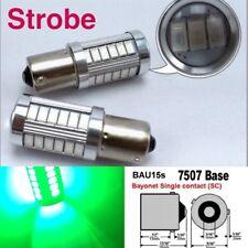 Strobe 7507 BAU15S PY21W 33 LED Projector Green Bulb Rear Signal B1 #12