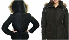 NEW Kenneth Cole Down Feather Faux Fur Quilt Parka Coat Jacket NWT L 10-12 Large