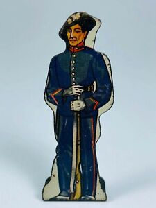 Bersaglieri #10 Vintage Marx Toy Lithograph Tin Litho Army Foot Soldier Figure