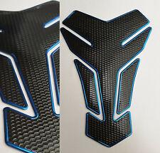 Tank Pad Protection Motorcycle Carbon Look Blue Black Universal Honda Yamaha